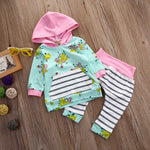 Floral Pullover Sweatshirt & Pants set for 0 - 24 Months - lil giggles baby supply