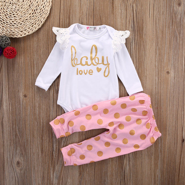 Baby Love Girls 2 Piece Outfit 0 - 18 Months - lil giggles baby supply