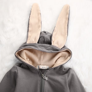 Soft & Warm Bunny Romper for 3 - 24 Months - lil giggles baby supply