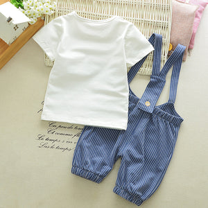 Bonjour Shirt & Overalls 2 Piece for 6 - 18 Months - lil giggles baby supply