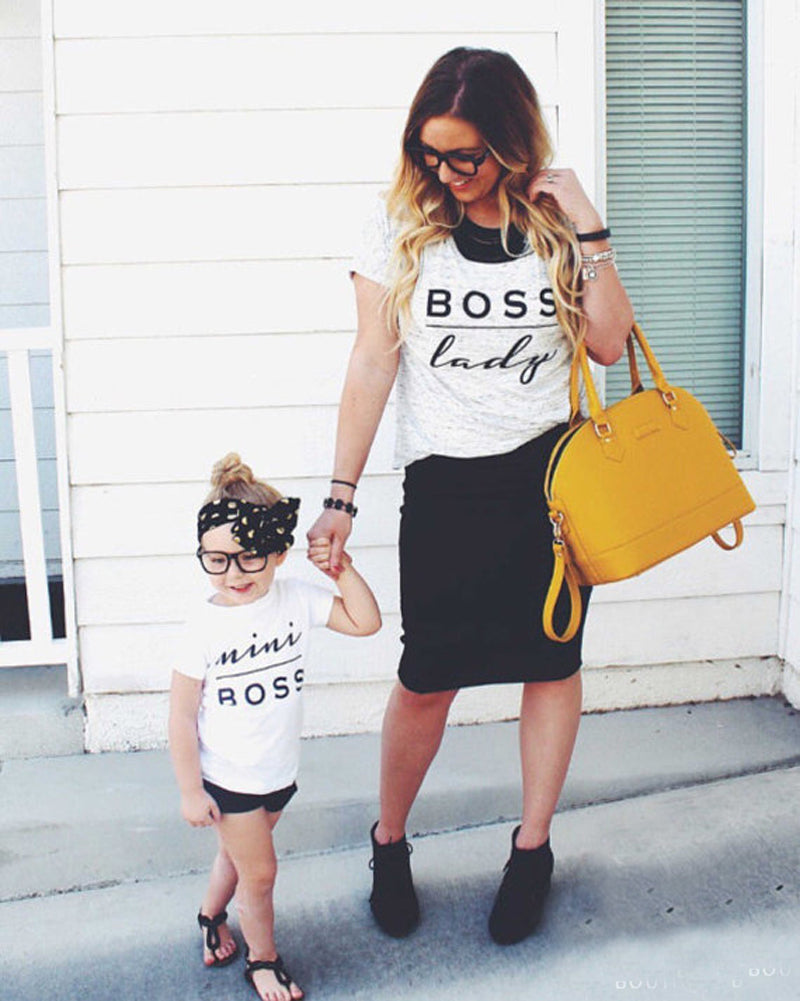 Boss Family T-Shirt - lil giggles baby supply
