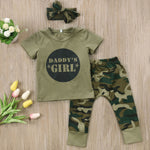 Daddy's Girl & Daddy's Boy Camo Outfits for 6 - 24 Months - lil giggles baby supply
