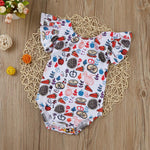 Fall Treats Romper for 6 - 18 Months - lil giggles baby supply