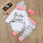 Baby Sister 4 Piece Outfit for 6 - 18 Months - lil giggles baby supply