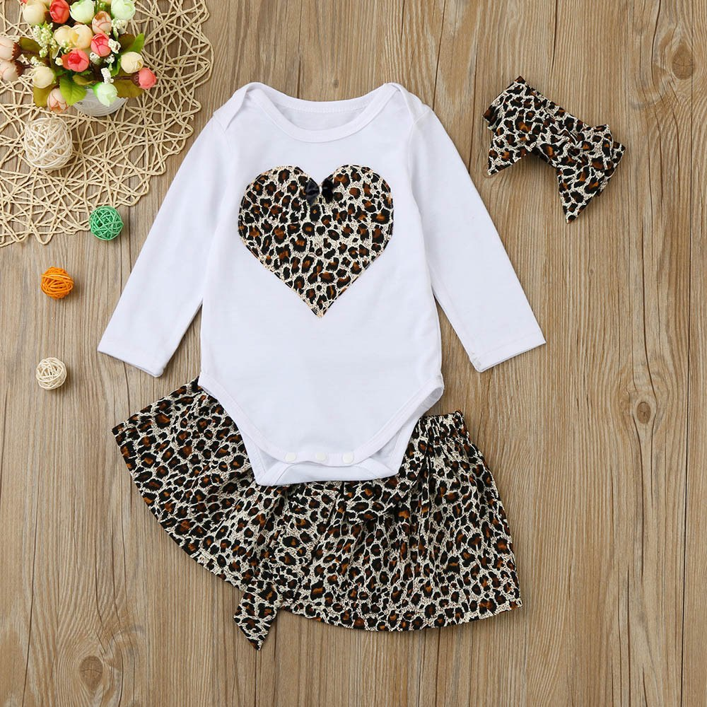 Leopard Print Dress & Headband for 3 - 24 Months - lil giggles baby supply
