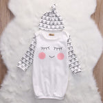 Rosy Cheeks Night Time Gown Set for 3 - 6 Months - lil giggles baby supply