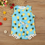 Tropical Pineapple Romper For 3 - 18 Months - lil giggles baby supply