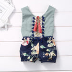 Boho Tassel Outfit For 3 - 24 Months - lil giggles baby supply