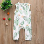 Cactus Sleeveless Onesie For 3 - 18 Months - lil giggles baby supply