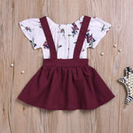 Floral Dress 2 Piece for 6 - 24 Months - lil giggles baby supply