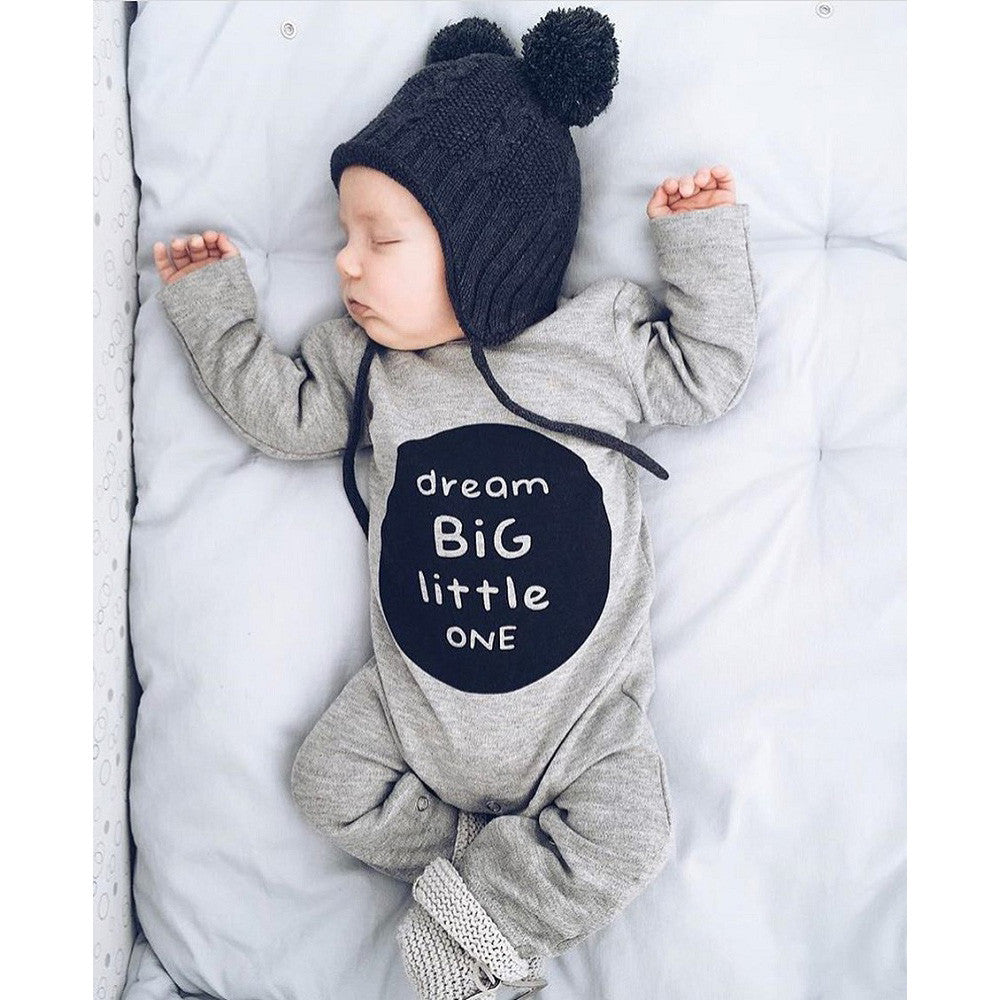 Dream Big Little One Romper for 3 - 18 Months - lil giggles baby supply