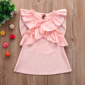 Pink Ruffles Dress for 6 - 24 Months - lil giggles baby supply