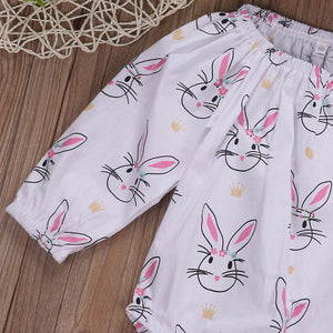 Bunny Princess Romper For 3 - 18 Months - lil giggles baby supply
