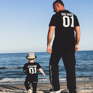 Big Man & Little Man Matching T-Shirts - lil giggles baby supply