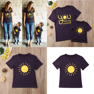 You Are My Sunshine Mother & Child Matching Shirts - lil giggles baby supply