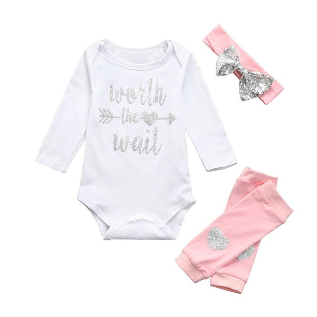 Worth The Wail 3 Piece Baby Outfit for 6 - 24 Months - lil giggles baby supply
