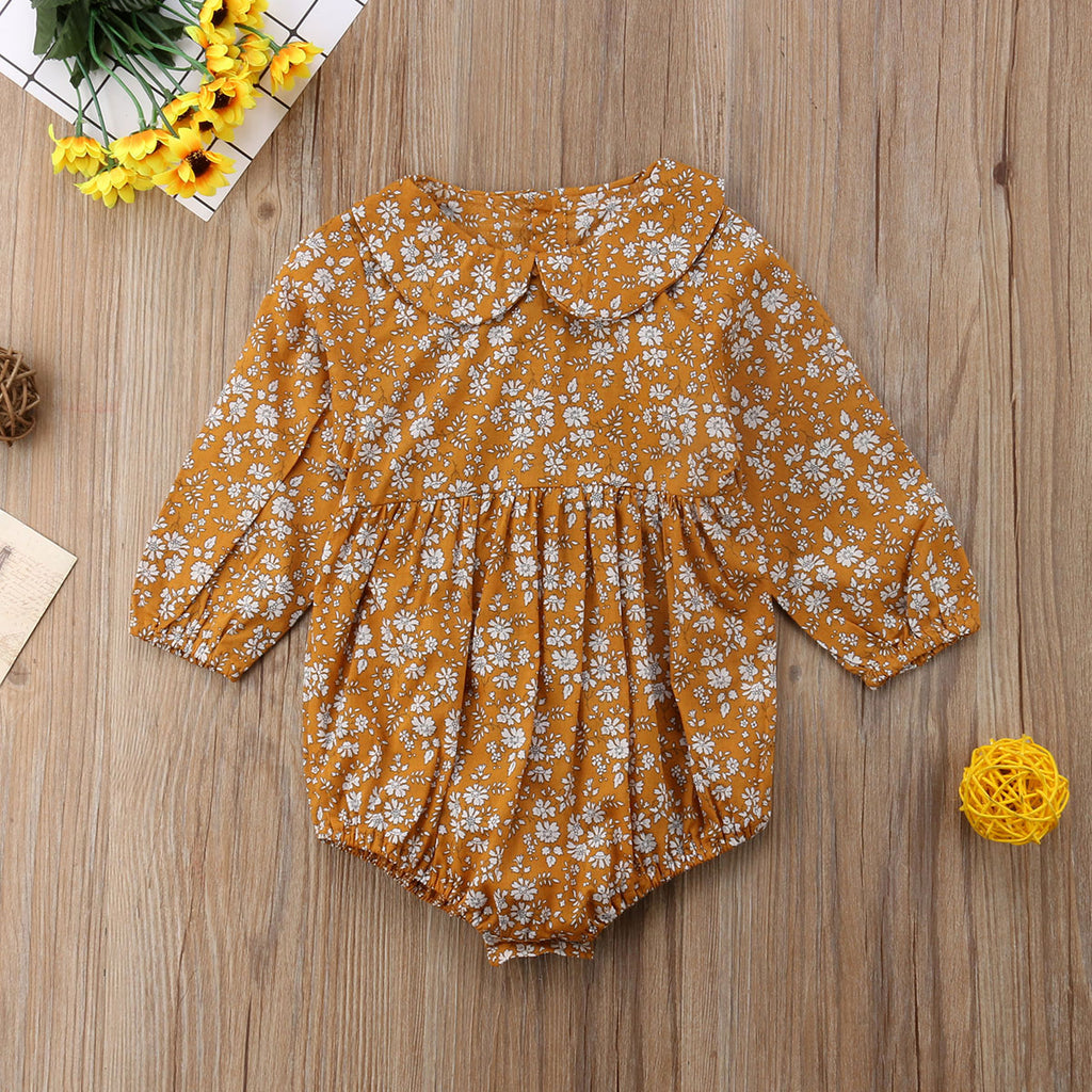Autumn Floral Romper for 6 - 24 Months - lil giggles baby supply