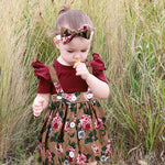 Baby Dress Floral 3 Piece Outfit for 6 - 24 Months - lil giggles baby supply