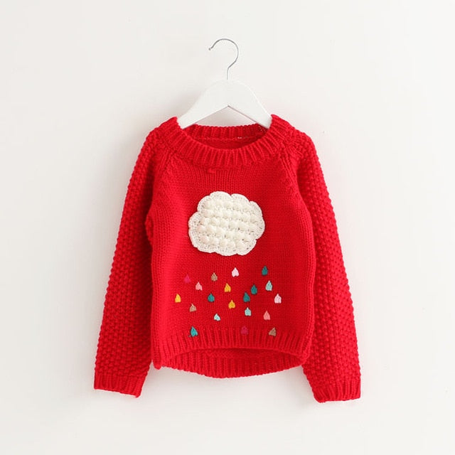 Rainy Day Sweater for 12M - 6T - lil giggles baby supply