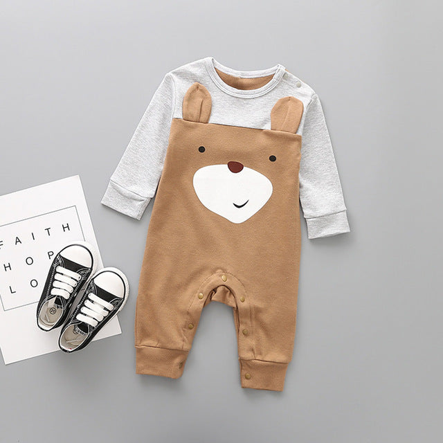 Forest Animal Romper for 3 - 12 Months - lil giggles baby supply
