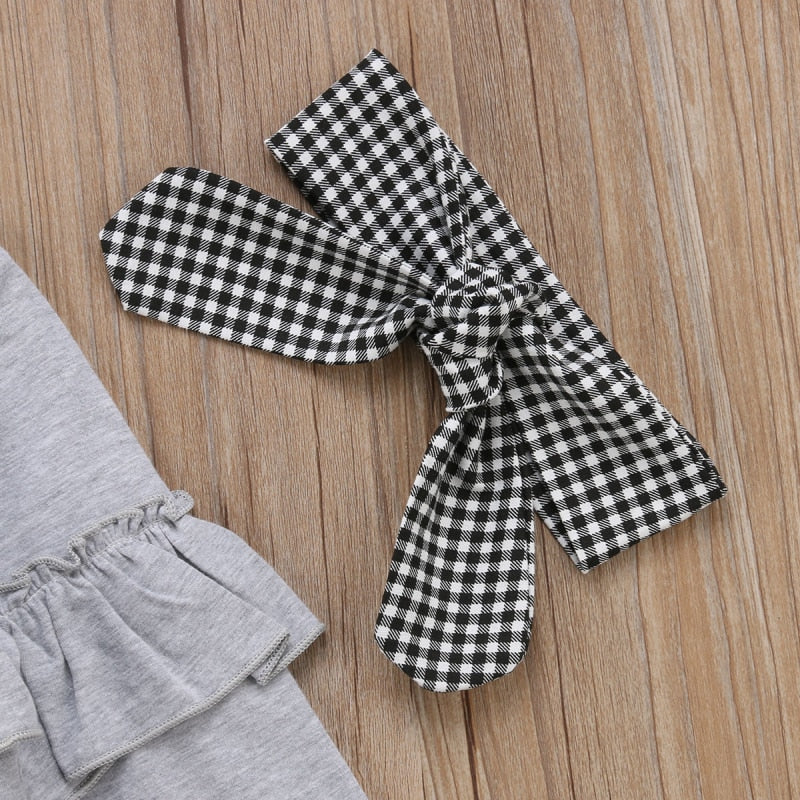 Frills & Checkers 3 Piece Outfit for 2T - 6T - lil giggles baby supply