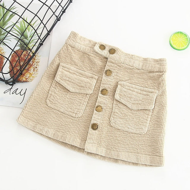 Corduroy Skirts for 24M - 6T - lil giggles baby supply