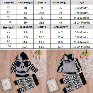 Skull Two Piece Outfit for 3 - 24M - lil giggles baby supply