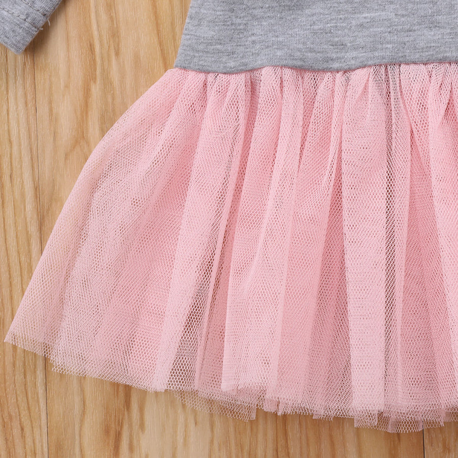 Girls Flower Tutu Dress Long Sleeve for 12M - 4T - lil giggles baby supply