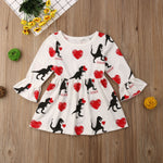 Dinosaur Lovin Heart Dress for 2T-6 - lil giggles baby supply