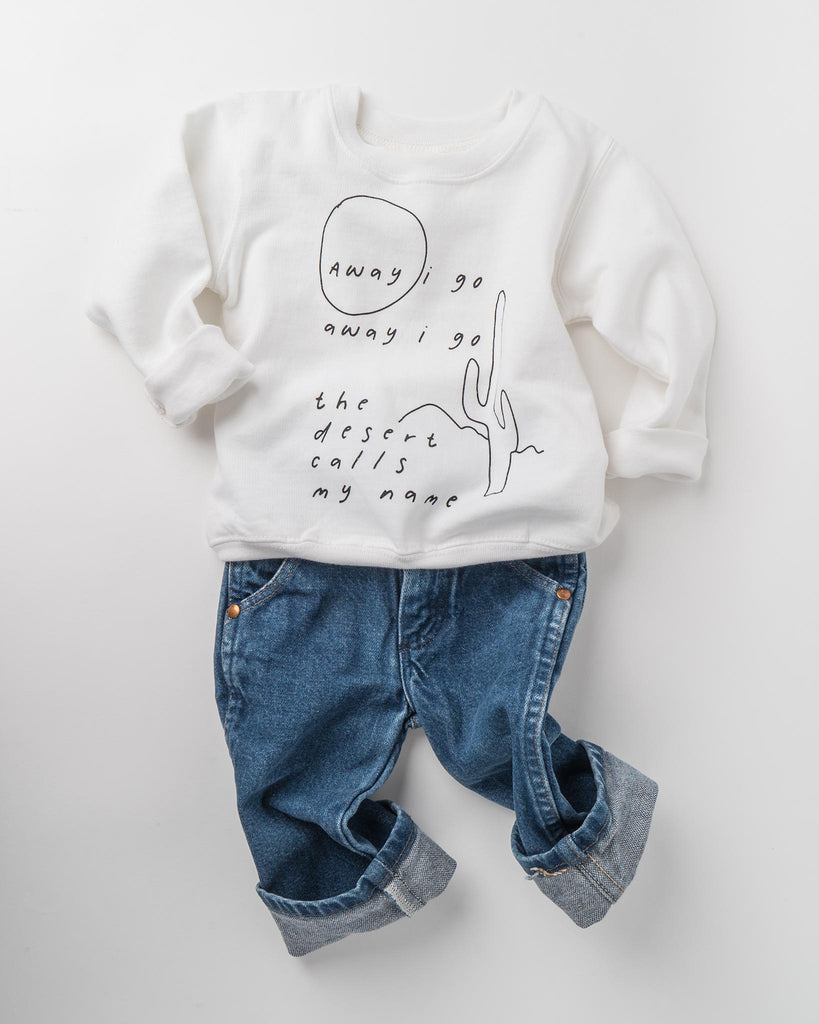 Desert Poem Toddler Sweatshirt