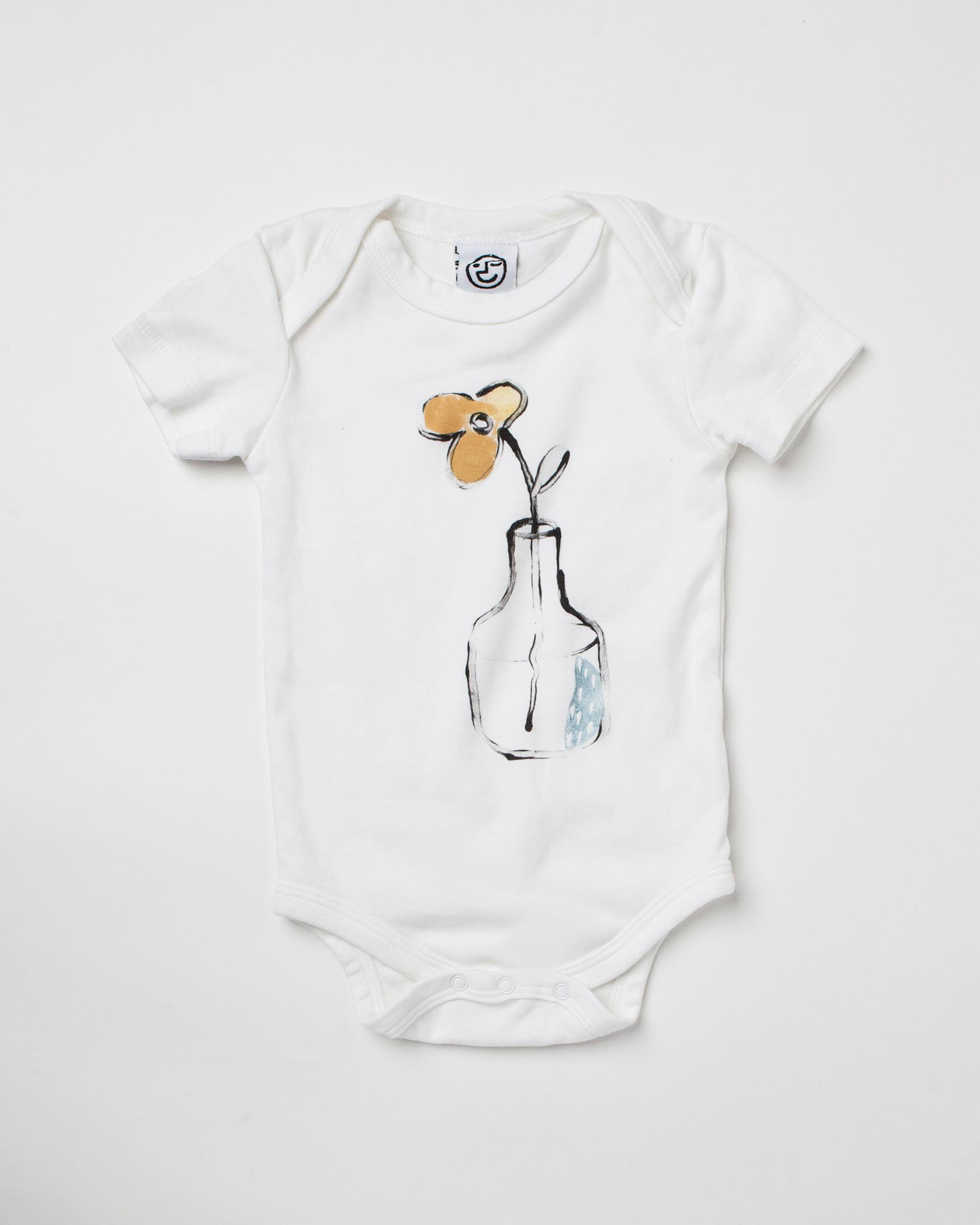 One of a Kind - Lets Be Buds - Organic Onesie