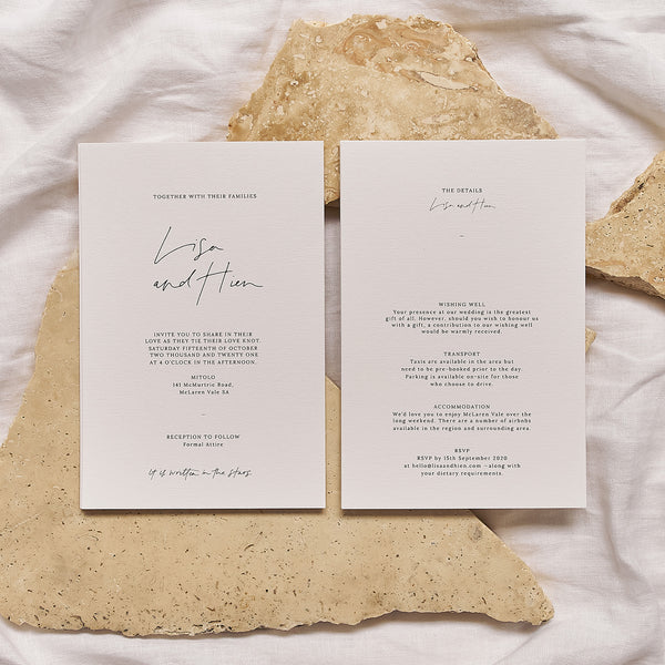 Written In The Stars | Invitation & Details Card