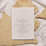 Written In The Stars | Menu with Guest Name