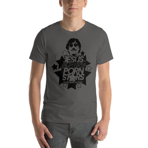 Jesus Loves Porn Stars Logo Short-Sleeve Unisex T-Shirt