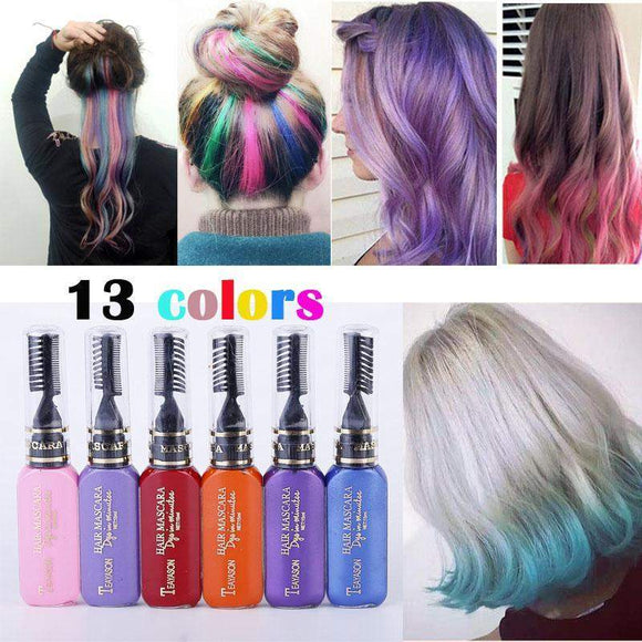 13 Colors One-Time Temporary Non-toxic DIY Hair Color-SunrizaCo