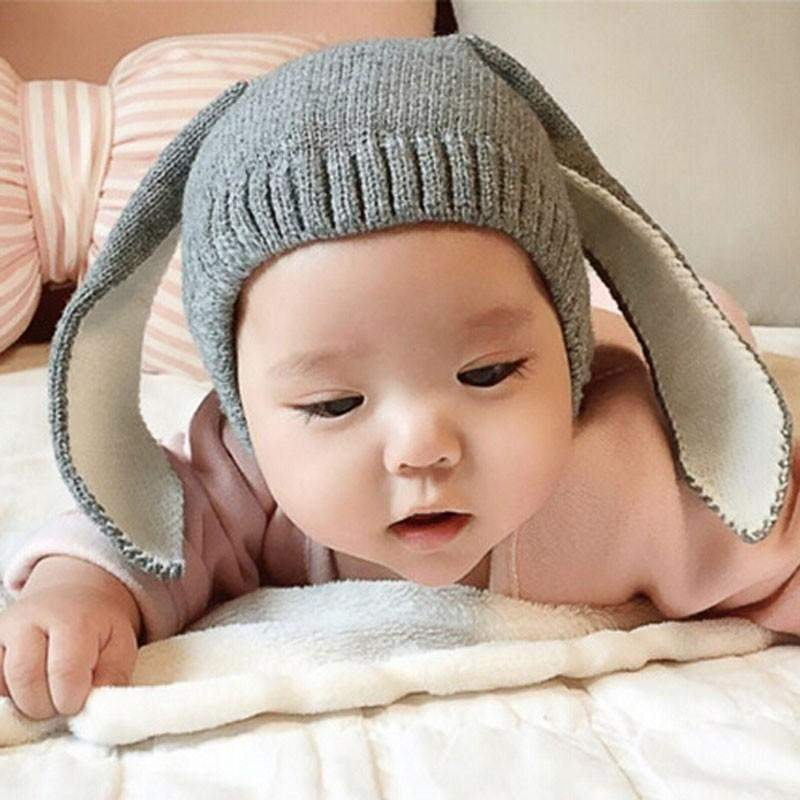 Knitted Baby Rabbit Long Ear Beanie-SunrizaCo