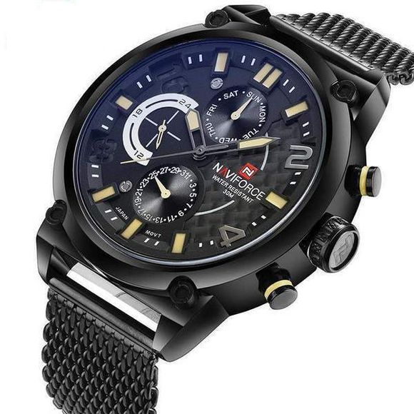 NAVIFORCE Luxury Brand Men's Military Analog Quartz