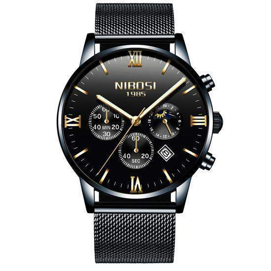 NIBOSI Men Gold Luxury Brand Watch-SunrizaCo