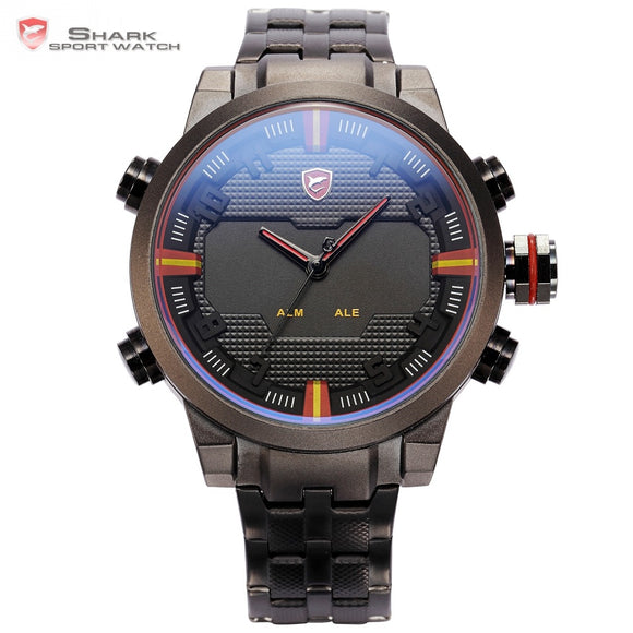 SHARK Sport Watch Dual Time Digital LED Watches