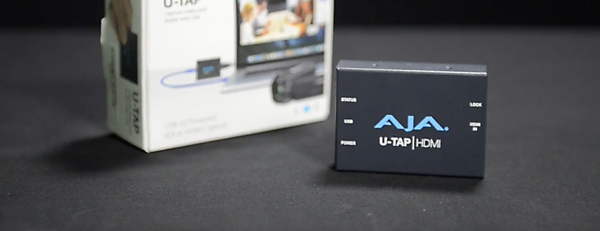 AJA U-TAP USB 3.0 SDI and HDMI Capture