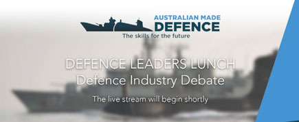 Defence Leader's Debate promotional banner