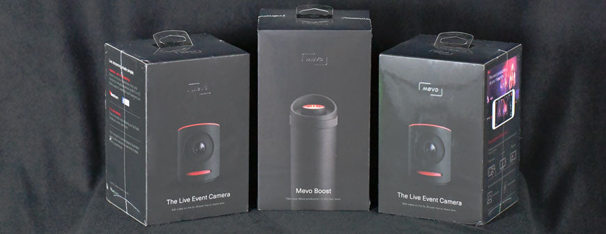 3 Livestream Mevo's in boxes