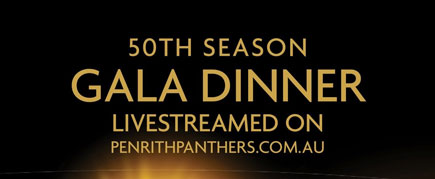 Penrith Panthers Gala Dinner promotional banner