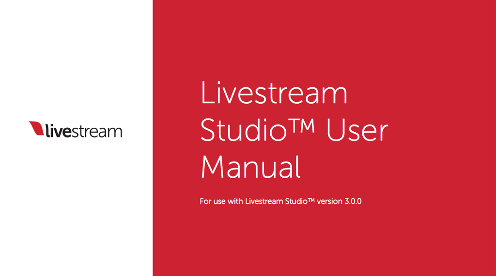 Livestream studio user manual cover