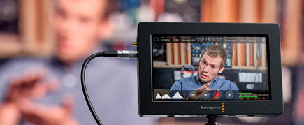 Blackmagic Video Assist screen