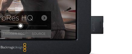 Blackmagic Video Assist with SD Card
