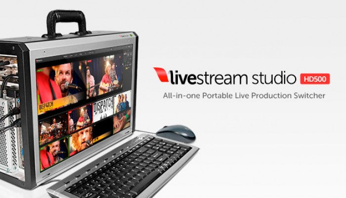 Livestream Studio HD500 with keyboard and mouse