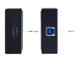 AJA U-TAP HDMI HD/SD USB 3.0 Capture Device Connectors