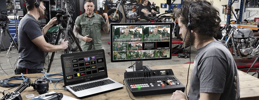 Blackmagic ATEM Television Studio Pro HD In action