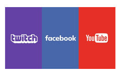 Twitch Facebook Youtube Logo